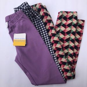 3/$25 Hanna Andersson Leggings 1 NWT, Size 120/130